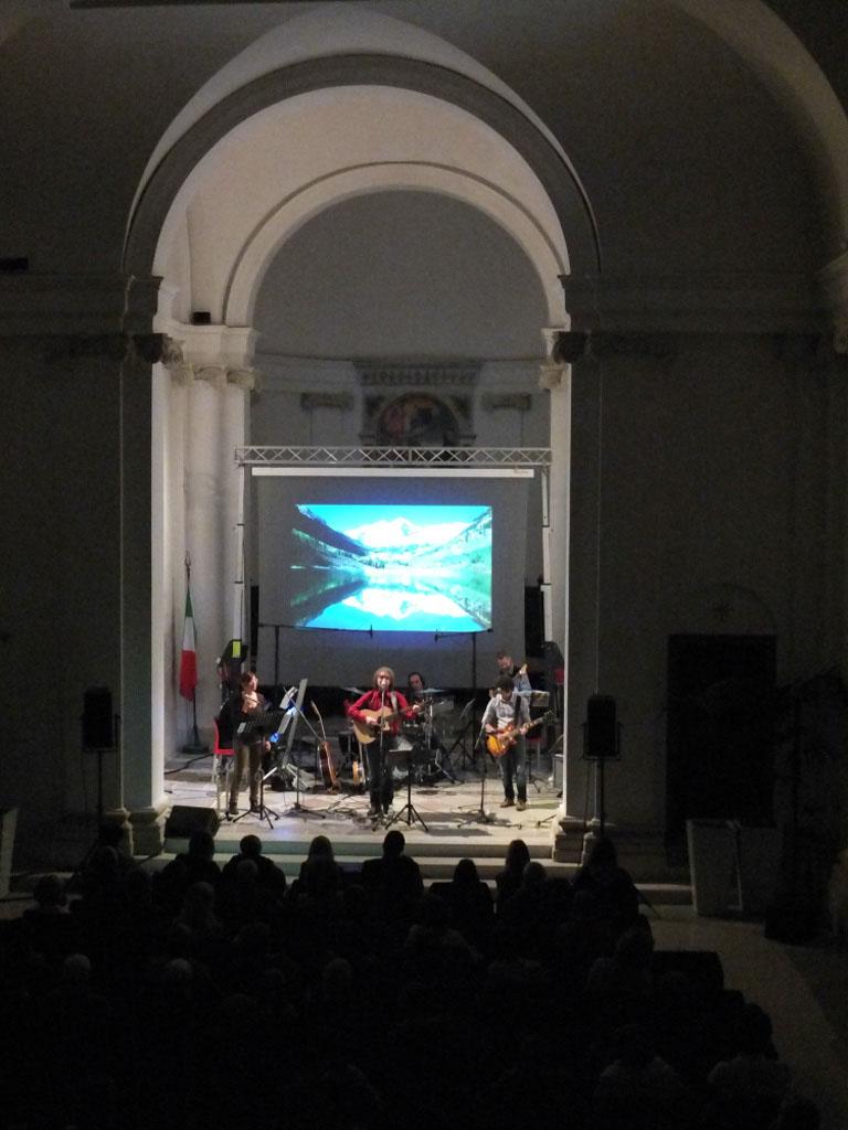 sul palco dell'auditorium Santo Stefano