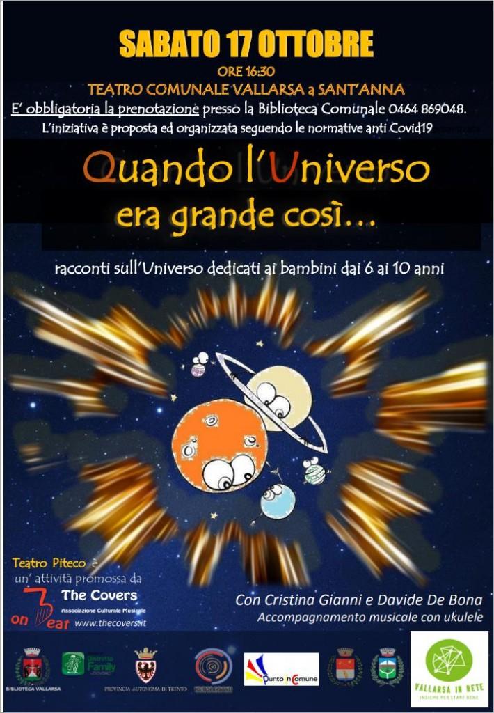 2020 10 17 - Vallarsa Quando L_'Universo Era Grande Così - Locandina-Copia
